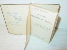 Vintage,Book,Merchant of Venice,Shakespeare,English Classic,School Study,Sea