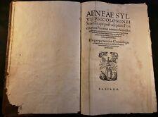 1551 POPE PIUS II OPERA QUAE EXTANT OMNIA with 19 Maps from Cosmographia Munster
