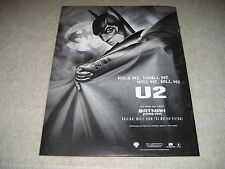 U2 - 1995 Us Full-Page Ad Hold Me, Thrill Me, Kiss Me, Kill Me Batman Forever