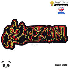 Saxon Music Band Embroidered Iron On Sew On PatchBadge For Clothes etc