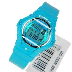Casio Baby-G Womens Watch BG169R-2B  BG-169R-2BDR Digital Blue Baby-G Watch