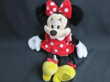 DISNEY STORE SOFT MINNIE MOUSE RED POLKADOT DRESS YELLOW SHOES BEANBAG PLUSH 14""