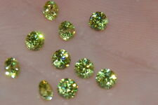 Flawless 3mm IF Brilliant Cut Simulated Apple Green Diamond