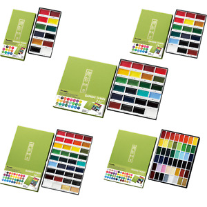 Kuretake Gansai Tambi Watercolour Sets - Set of 12, 18, 24, 36, 48