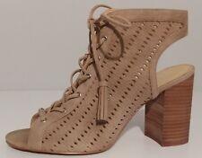"NEW!! Jessica Simpson Beige Suede Sandal Booties 3.5"" Heels Size 9M US 39M EU"