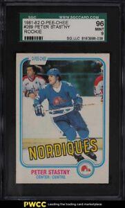 1981 O-Pee-Chee Hockey Peter Stastny ROOKIE RC #269 SGC 9 MINT