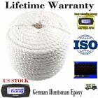 """1/2""""x100' White Twisted 3 Strand Nylon Anchor Rope Boat with Thimble Dock Line"""