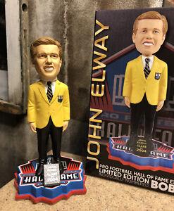 JOHN ELWAY Denver Broncos 2004 NFL Hall of Fame Gold Jacket Bobblehead