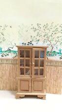 Dollhouse Miniature  Wooden Walnut Display  Hutch Display