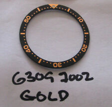= Gold/ black Bezel Insert made for Seiko Diver 6309 7002 7S26-0020
