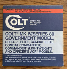 Colt Safety and Instruction Manual