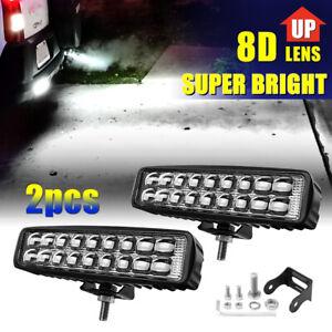 "2x 6INCH 8D 720W LED WORK LIGHT BAR SPOT COMBO OFFROAD ATV FOG TRUCK LAMP 4WD 7"""