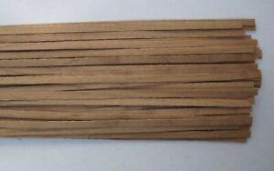 40 Holzleisten europ. Nußbaum    1000 x 6 x 0,6 mm