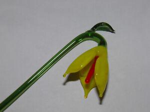 Spring Flower Bell Flower Yellow Thuringian glass lauscha cursdorf Lutz Neumann