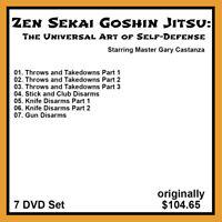 Gary Castanza's Zen Sekai Goshin Jitsu Series (7 DVD Set)