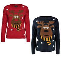 ONLY Damen Strick Pulli Pullover onlX-RED NOSE L/S PULLOVER KNT Weihnachten Elch