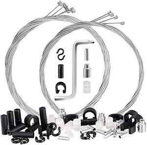 8PCS Bike Brake Cable Shift Cable Kit Bicycle Bike Brake Cables Shift Cables