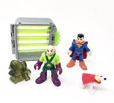 Imaginext Lex Luthor & Superman Kryptonite Cage Krypto Dog DC Super Friends