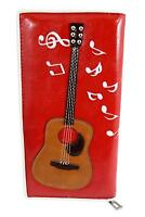 Acoustic Wallet   Acoustic Guitar Wallet   Red music wallet