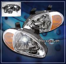 1993-1997 Honda Del Sol Crystal Chrome Head Lights Lamp Amber Corner Signal S Si