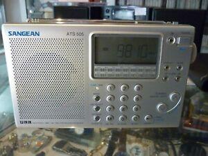 SANGEAN ATS 505 FM STEREO / MW / LW / SW SYNTHESIZED RECEIVER RADIO - AU STOCK !