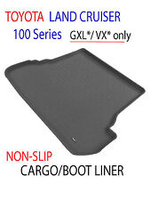 To suit Toyota Land Cruiser 100 series - GREY Rubber 3D Cargo Boot Mat