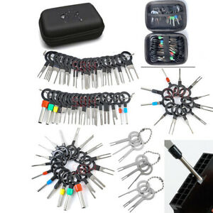 76PCS Wire Terminal Removal Tool Pin Extractor Electrical Connector Kit For Car