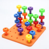 30 PCS Peg Board Set Montessori Therapy Fine Motor Toy For Toddlers Pegboard