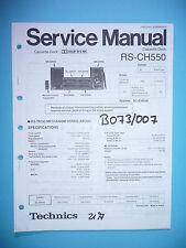 Service Manual-Istruzioni per Technics rs-ch550, ORIGINALE