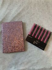 NEW~ Bebe Glitter Notebook And Gel Pens Sets