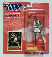 GRANT HILL - Detroit Pistons - Starting Lineup SLU 1997 NBA Action Figure & Card