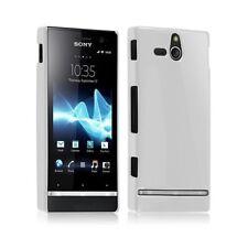 Housse Étui Coque Rigide Brillante Pour Sony Xperia U Couleur Blanc