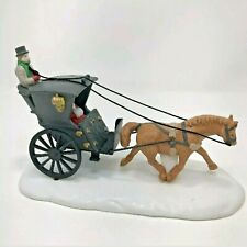 Kings Road Cab Dept 56 Heritage Village 55816 Christmas Carriage Horse New Inbox