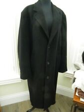 LADIES LUXURY LONG  BLACK CASHMERE BLEND COAT fabric woven in  ITALY SIZE LARGE