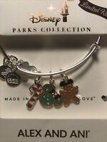 New 2020 Disney Parks Alex & Ani Christmas Holiday Snack Icons Silver Bangle LR