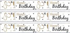 AGE 80/ 80TH BIRTHDAY WHITE MALE OR FEMALE FOIL BANNERS (SE)