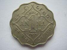 India 1910 copper nickel 1 Anna VF