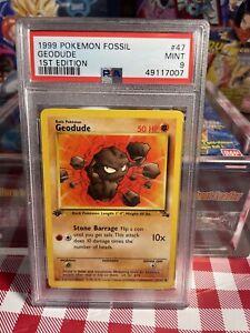 1999 Pokemon Fossil 1st Edition Geodude #47 PSA 9 Mint WOTC BGS CGC