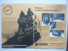 6/1977 PUB PLESSEY ELECTRONIC SYSTEMS PRC 320 PVS 1410 PTR 349 VRC 320 FRENCH AD