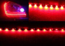 2xRed 120CM 60LED Side Glow Side-emitting Side Shine Flexible LED Strip Ligth