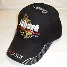 Jehova Salmo 23:1 I love Jesus Christian Hat Baseball Cap Black
