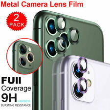For iPhone 11 Pro Max Metal HD Tempered Glass Camera Lens Screen Protector Film