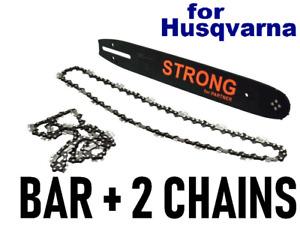 "Fits HUSQVARNA 135 235 236 14"" 35cm 3/8 1.3mm 52 DL  Bar + 2 Chains Chainsaw"