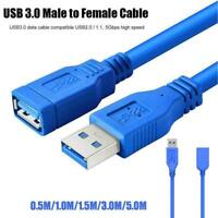 New USB 3.0 Type A Male to Female Extension Data Sync Extender Cord Best P6P5
