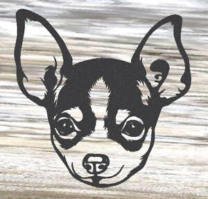 Chihuahua - Steel Metal Garden Wall Art