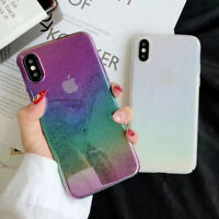 3D Water Drop Rainbow Transparent Thin Hard Case Cover for iPhone X 6S 8 7 7Plus