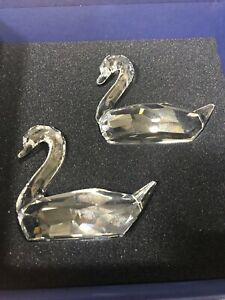 Swarovski Crystal Figurine Large Love Swans Set of Two 763363000 ? In Box Others