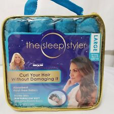 "The Sleep Styler 8 - 6"" Rollers Large Absorbent Heat Free Curl Your Hair"