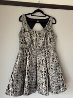 bluejuice dress Black And Gold Size 14, fit and flare, nwt Party/Formal/Cocktail