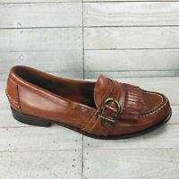 Cole Haan Country Handsewn Mens 9.5 D Shoes Brown Leather Monk Strap Loafers
